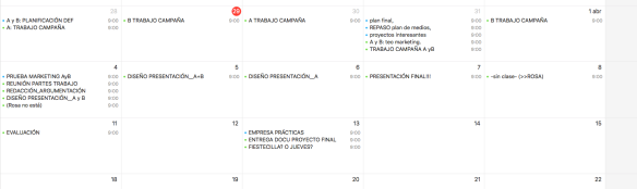 CALENDARIO FIN DE CURSO_PROYECTOS & TEO PUB